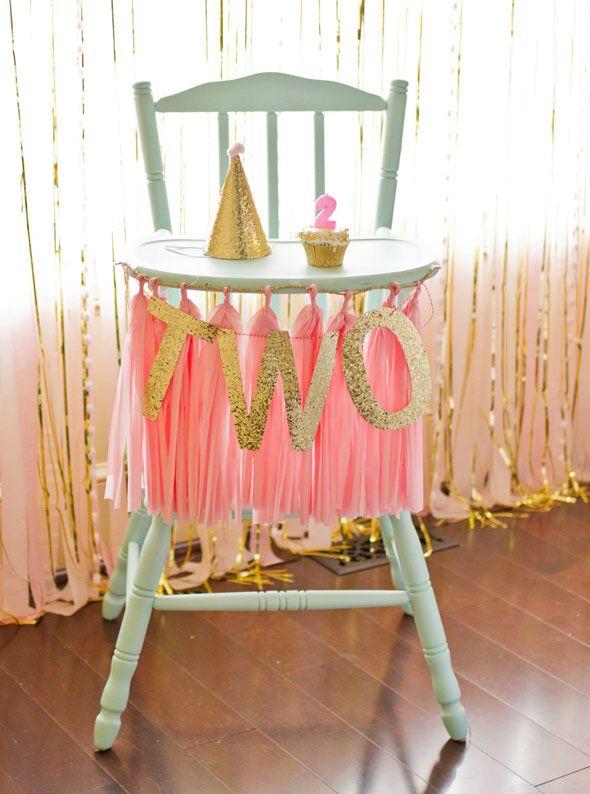 La chaise d anniversaire d'une petite princesse !