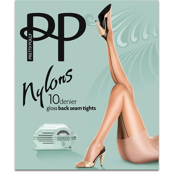 Pretty Polly Sheer Gloss Back Seam Nylons ($15) ❤ liked on Polyvore featuring intimates, hosiery, tights, pantyhose, sheer, women, wet look stockings, sheer nylon stockings, pantyhose tights and pantyhose stockings