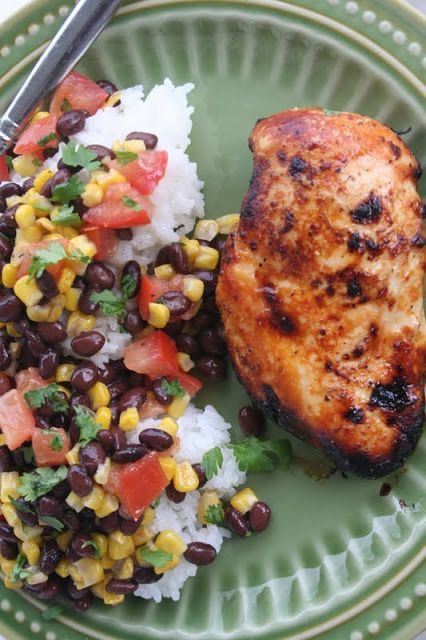 Honey Lime Chicken ohsweetbasil.com
