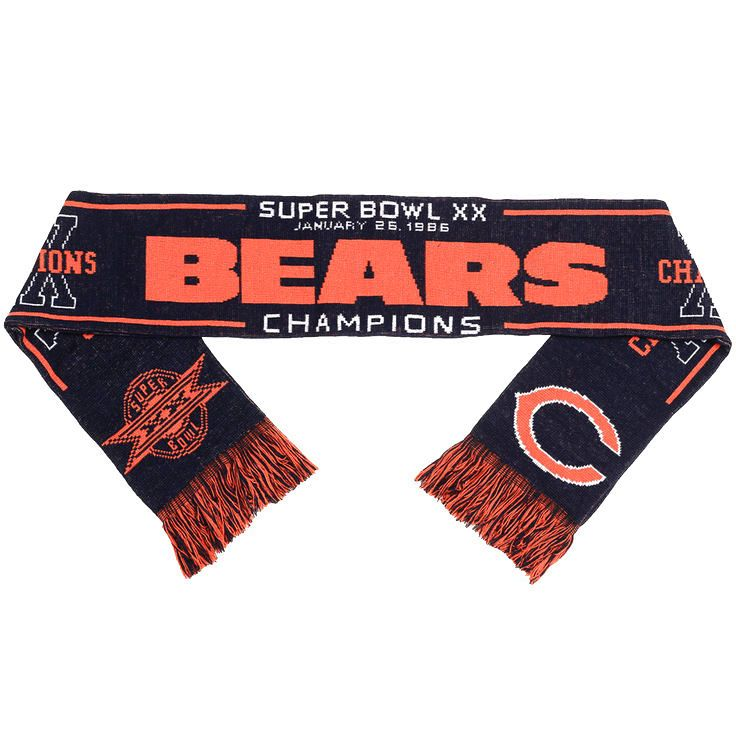 Chicago Bears Super Bowl XX Champion Commemorative Acrylic Scarf - $15.99