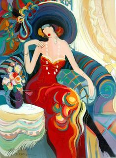 Women in Painting by Israeli Artist Isaac Maimon - THIS IS TARKAY. I Love his imagery of the feminine form!