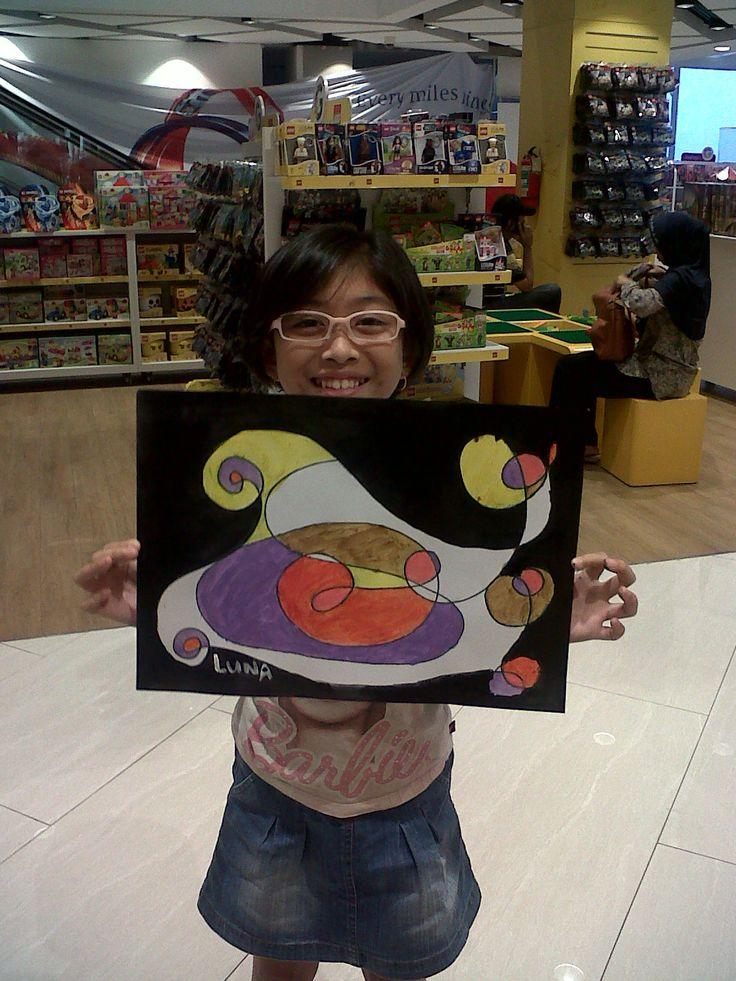 Meluna Quinteva - Joan Miro - Automatic Drawing @Gramedia Kids Emerald Bintaro