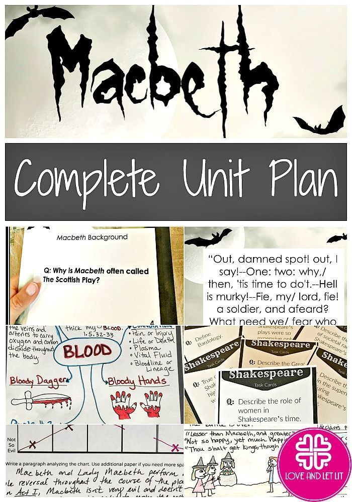 Teaching Macbeth? Looking for activities? Help students dig DEEP into Macbeth with this complete 4-week unit plan. With well-organized and easy to implement lesson plans, students spend the first 2 weeks on an in-depth and engaging study of Macbeth. Week 3 is spent on the complete writing process for a literary analysis essay, and during week 4, students engage in a Reader's Theater Activity! For Quotes, Projects, Unit Plan and more, click through to my store.