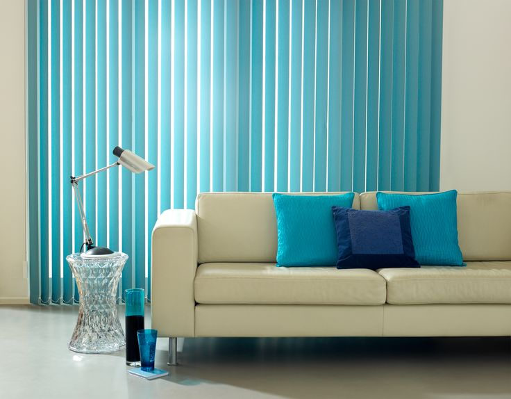 This Habitat Turquoise vertical blind is the perfect shade, with just the right amount of blue to balance the subtle green tones.