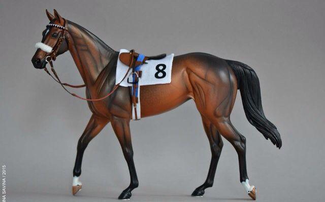 Drastic Custom Model Horse Resin Breyer Peter Stone Bay Race Tack