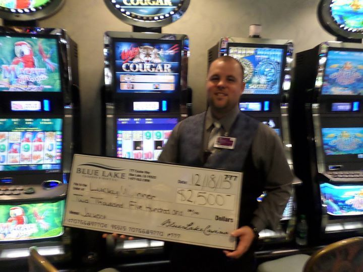 #jackpotalert Congratulations to our camera shy winner of $2500 on a Wild Cougar machine! Thanks to Alec from slots for holding the check :)