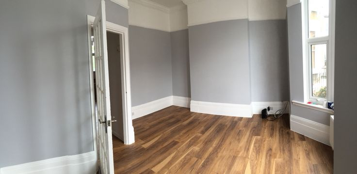 Dulux Grey Steel 4 With Kronos Original Appalachain Floor
