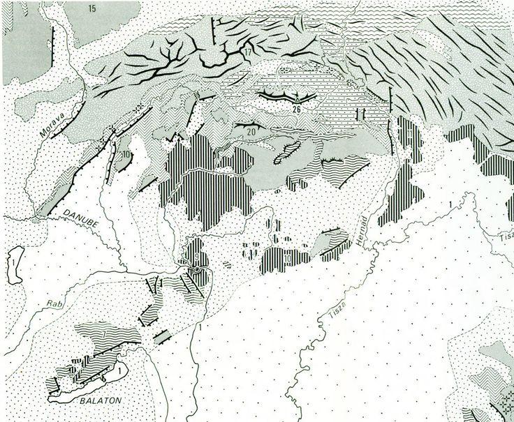 1970 Carte Géologique des Carpates Europe Centrale Relief Géomorphologie de la boutique sofrenchvintage sur Etsy