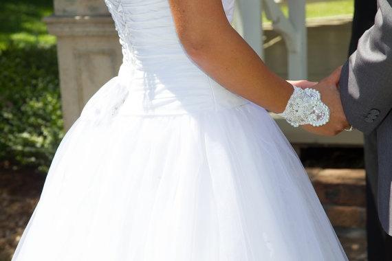 Bridal Pearl Cuff Bracelet  'Sparkle Like by jogeorgedesigns, £39.99