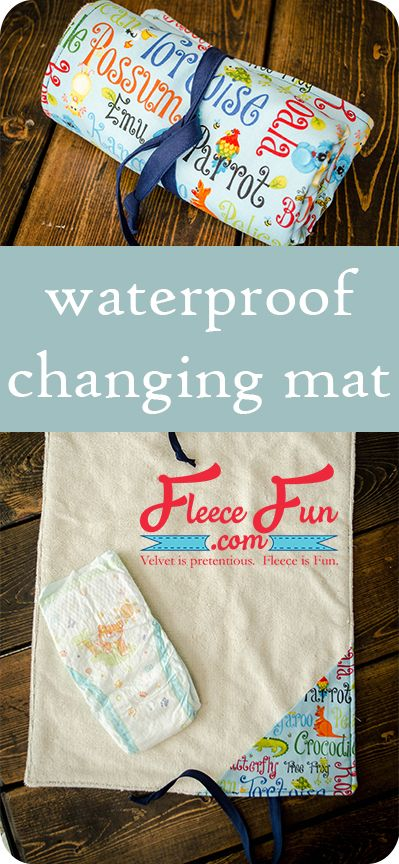 I love this sewing project for babies. This diaper changing mat is simple to make and the perfect addition to any diaper bag or purse! fleece fun waterproof change mat tutorial