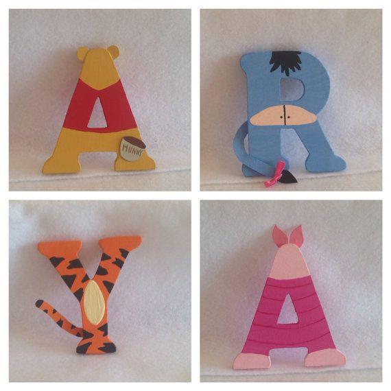 3 Inch Wood Character Letters. Disney por IMadeThisCrafts en Etsy