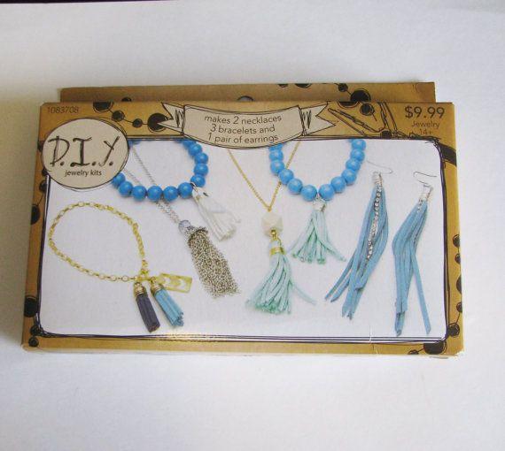 DIY jewelry kit, Earrings,Jewelry Making Supply, tassel jewelry kit