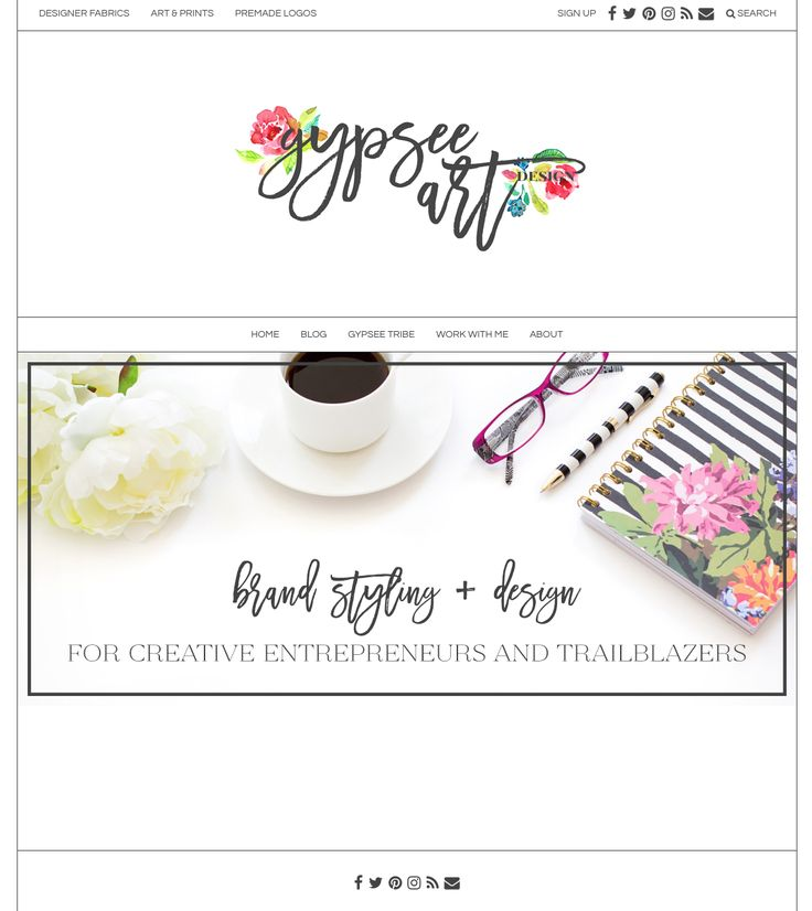 Love this simple and sweet site running off of an Angie Makes Wordpress theme. A lovely website design! Too cute.