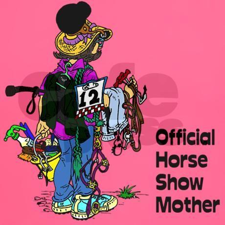 Horse Show Mom - English Women's Dark T-Shirt