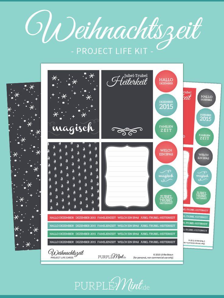 Project Life Karten - Weihnachtszeit (FREEBIE) #maluAdvent
