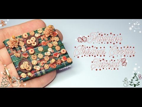 Miniature Christmas Cookies Tutorial-Polymer Clay - YouTube