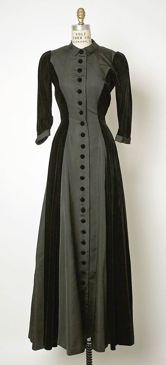 Silk Evening Dress, ca. late 1940s, Cristobal Balenciaga