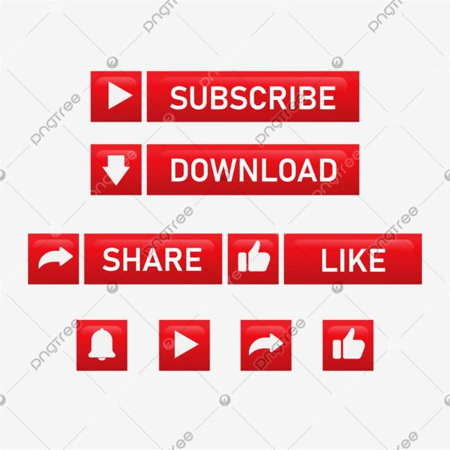 Red Glowing Subscribe Button With Share And Like Subscribe Button Sign Png And Vector With Transparent Background For Free Download Free Vector Graphics Subscribe Prints For Sale