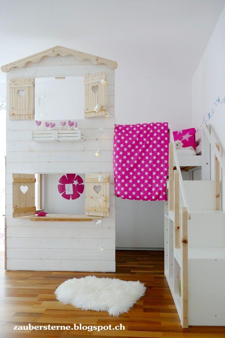 Kids Room, Kids Inspirationen, Kinderzimmer, Hochbetthaus, DIY Hochbetthaus, Westwing.ch, Westwing Schweiz, Spielhaus, Kinderspielhaus, Mädchen Zimme…