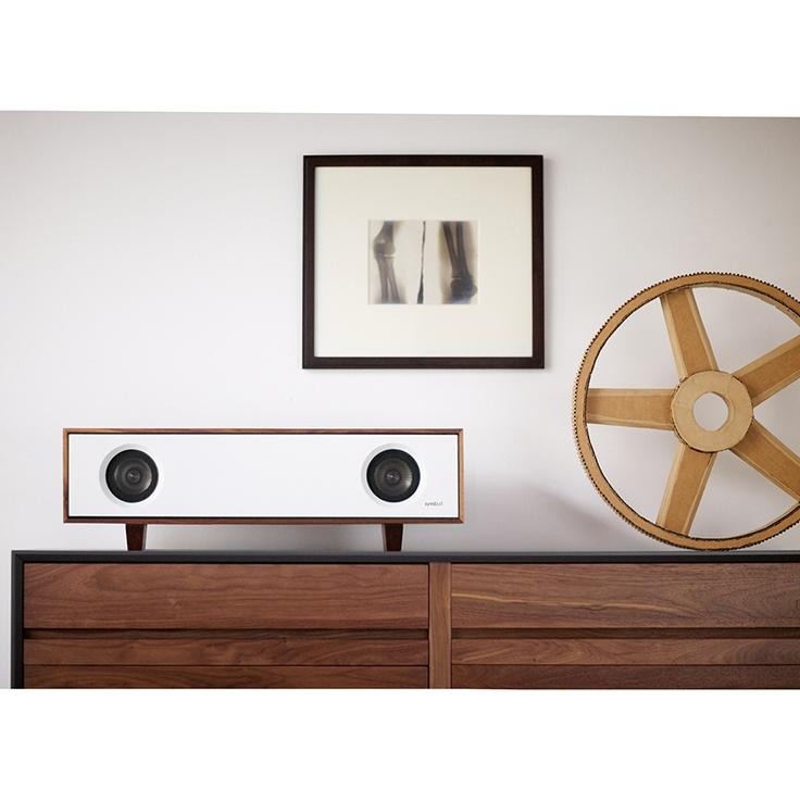 Symbol Audio Tabletop HiFiGlacier White w/ Natural Walnut