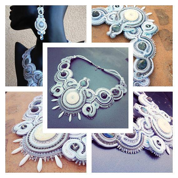 Moonlight soutache necklace от AtelierMagia на Etsy
