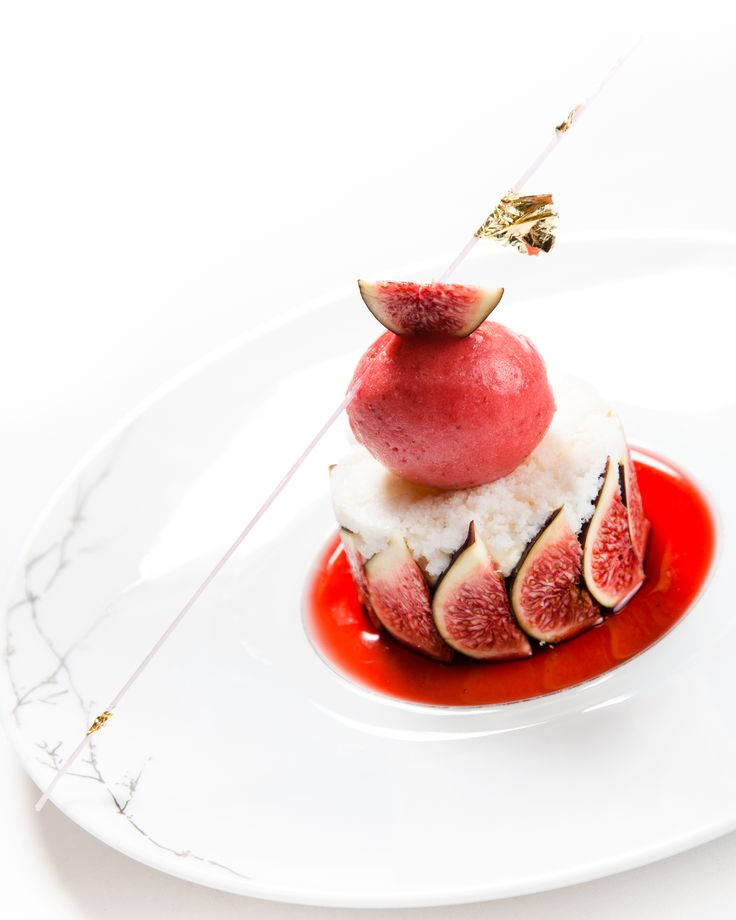 Fig dessert plating presentation plated beauties pinterest carrot cakes dressage and - Dessert d automne gastronomique ...