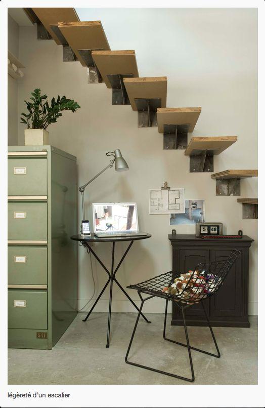 Style loft dans les escaliers