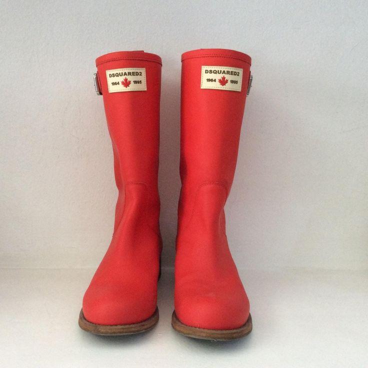 DSQUARED2 Stivali da pioggia in Pelle