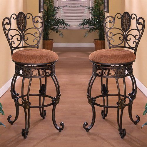 Bar-Stools-30-Inches-With-Back-Swivel-Unique-Stool-Set-Of-2-Tall-Antique-Fabric