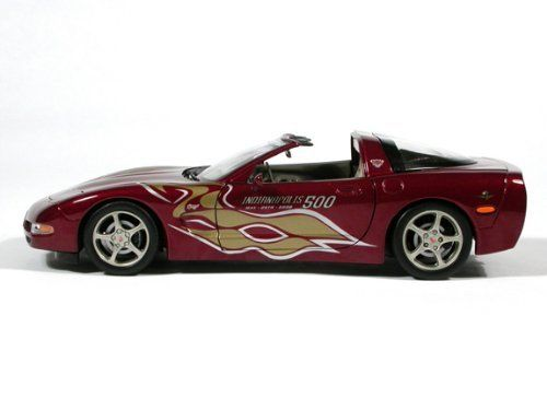 American Muscle 2003 Corvette indy 500 Pace Car 1:18 Scale Die Cast Metal Car by Ertl Collectibles. $39.99. Opening Doors and Hood. For ages 8 and up. Steerable Front Wheels. Detailed INterior and Chasis. Corvette Anniversary Collection. 2003 Corvette Indy 500 Pace Car 1/18 Scale Diecast Car. Made by Ertl American Muscle. Marked #33255X. Brand New in Factory Sealed Box.