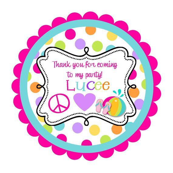 paz amor piscina partido redondo Etiquetas por noteablechic en Etsy, $4.80