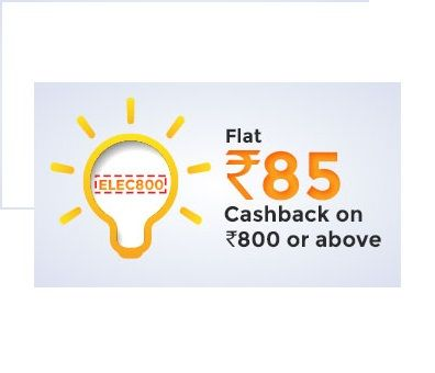 Mobikwik is offering Rs.85 Cashback on Electricity Bill Payments How to catch the offer: Click here for offer page Apply offer codeELEC800 Valid on MobiKwik App Only Valid only for Select Mobikwik users Valid Only ONCE per user Offer valid onlyMP Paschim Vidyut Vitaran, Chhattisgarh Electricity Board, Jaipur Vidyut Vitran Nigam Ltd, Gujarat Gas Company …