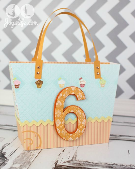 Make a Child's Birthday Gift Bag using SVGCuts Luxury Handbags #svgcuts #sizzixeclips