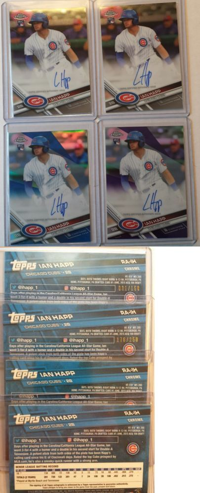 Sports Memorabilia: 2017 Topps Chrome Ian Happ 4 Auto Rc Lot Blue 31 150 Purple 176 250 And 2 Base -> BUY IT NOW ONLY: $149.95 on eBay!
