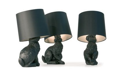 Black bunny lamps