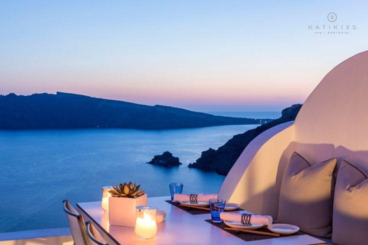 Katikies Hotel   SELTZ Champagne Bar & Restaurant   sunset dinner   Santorini, Greece