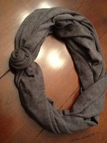 No Sew Rosette Scarf--Uses 1 long rectangular scarf and 1 ponytail holder.