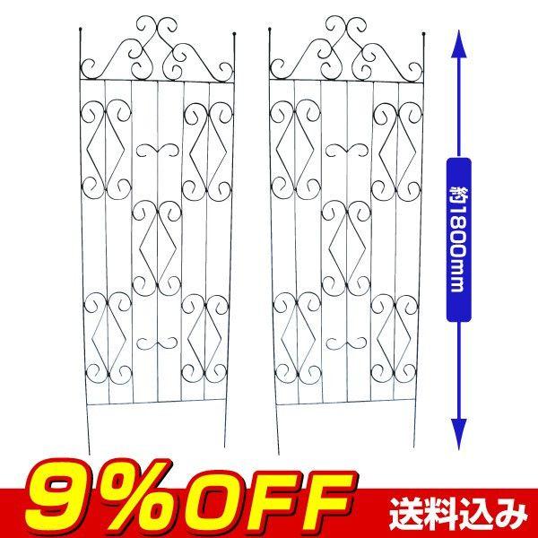 ガーデンフェンス 鉄製フェンス・アーク大 2枚1組 :s1081:花と緑 国華園 - 通販 - Yahoo!ショッピング