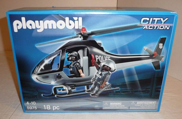 NEW SEALED Playmobil Tactical Unit Police Helicopter w/ Figures City Action Unit #Playmobil