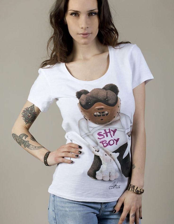 HANNIBAL BEAR #woman #tshirt #beartoys #style #fashion #moda #womenfashion #womenstyle #madeinitaly