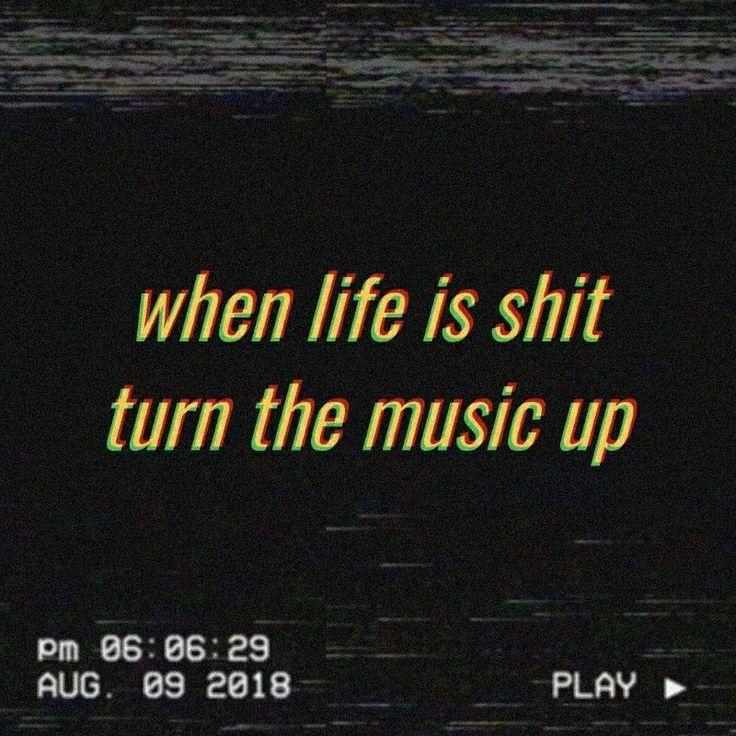 grunge, aesthetic, black, quote, music aestheti...