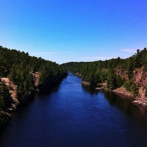 Alban, Ontario — by Linda Sibbald (Nisbett). French River Provincial Park. When traveling up north make sure to check out the suspension bridge here. It costs...