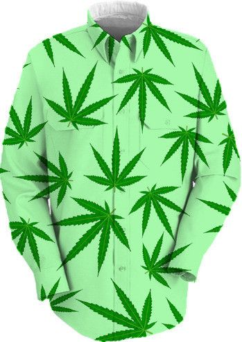 Cannabis leaf on green by Valxart from Print All Over Me