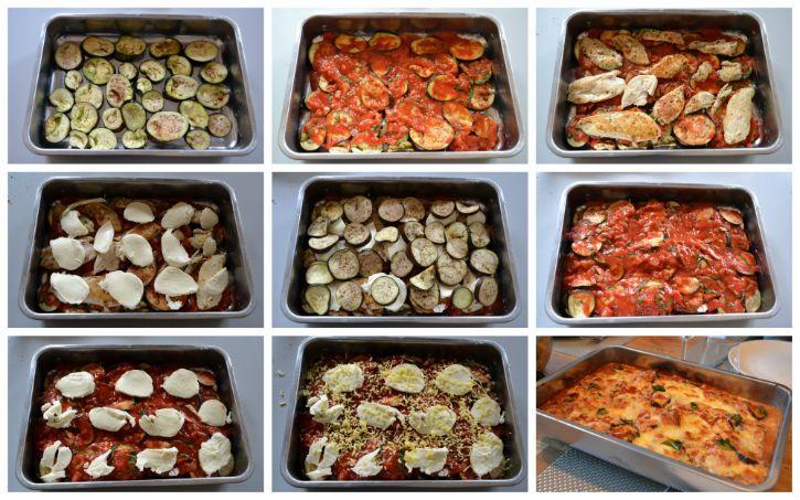 Ovenschotel met aubergine en mozzarella