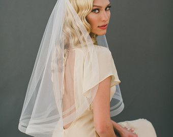 2 Horsehair Veil Cathedral Veil Horse Hair Edge by VeiledBeauty