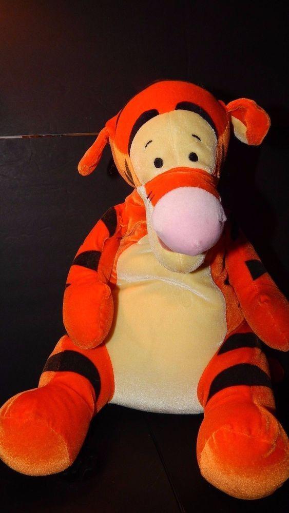 "Disney Store Authentic Plush TIGGER SQUEEZE 16"" Stuffed Toy Winnie The Pooh EUC #Disney"