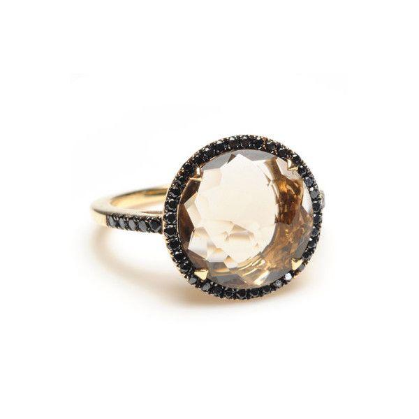 Greenwich Jewelers - Suzanne Kalan Smokey Quartz Ring ($1,650) found on Polyvore