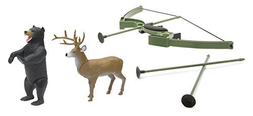 Wild Hunting Bow and Arrow Playset with Deer Targets
