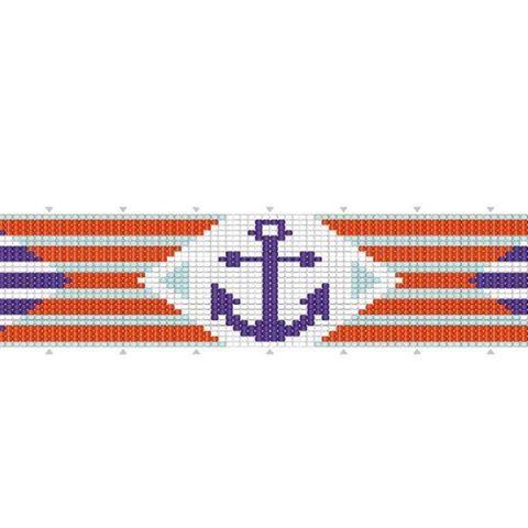 [ Tissage ] Lancez-vous dans le tissage de perles au métier à tisser avec ce bracelet marin ! ⚓ >>> https://www.perlesandco.com/Bracelet_marin_tissage_de_perles-s-2578-47.html  Source : modèle tiré de l'ouvrage « Tissage de perles avec un métier » aux Éditions Fleurus – Caroline Soulères 2016