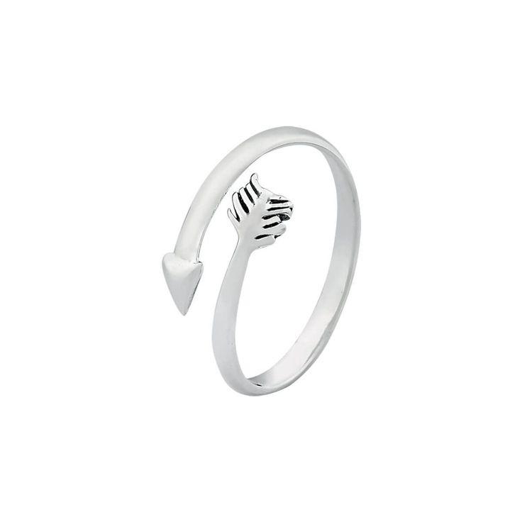 Anel flecha espiral prata 925 regulávelDimensões aproximadas:Altura: 1 cmEspessura: 0,1 cm